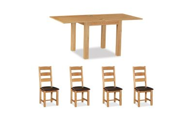 Brackley Square Extending Dining Table & 4 Chairs