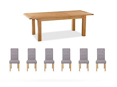 Brackley Extending Dining Table & 6 Lucy Chairs