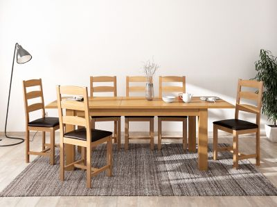 Brackley Large Extending Dining Table & 6 Chairs