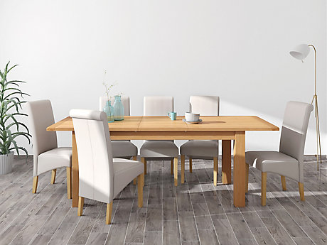 Brackley Large Extending Dining Table & 6 Darcy Chairs