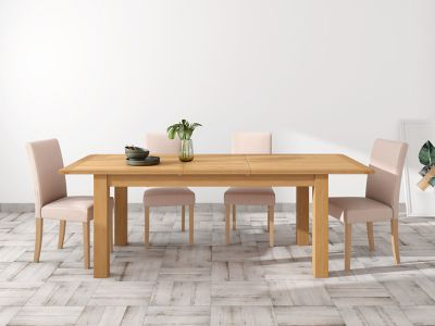 Brackley Large Extending Dining Table & 4 Taya Chairs