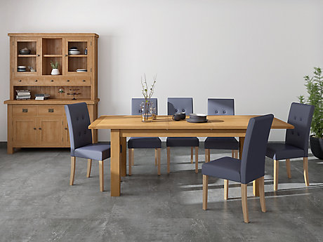 Brackley Large Extending Dining Table & 6 Lucy Chairs