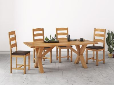 Brackley Cross Dining Table & 4 Chairs