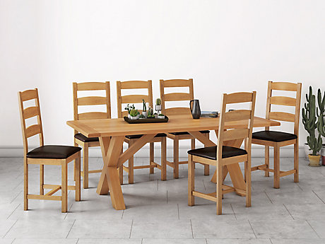 Brackley Cross Dining Table & 6 Chairs
