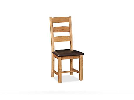 Brackley Slatted Chair PU Seat
