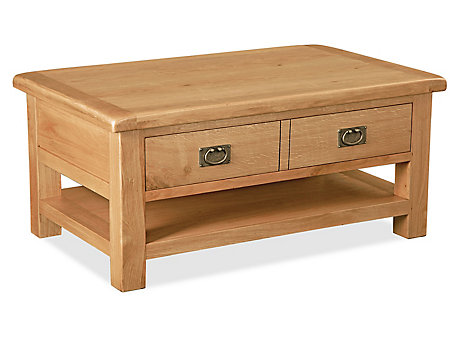 Brackley Large Coffee Table With Drawer And Shelf