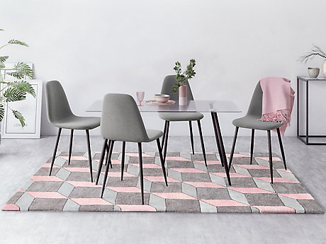 Petra Dining Table & 4 Chairs