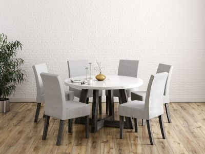 Lexham Round Dining Table & 6 Chairs