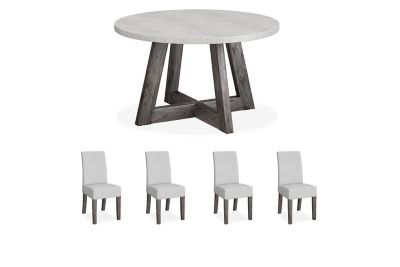 Lexham Round Dining Table & 4 Chairs
