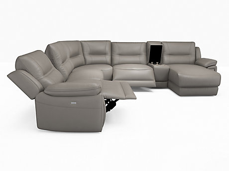 Hambledon Right Hand Facing Recliner Corner with Chaise & Media Tray