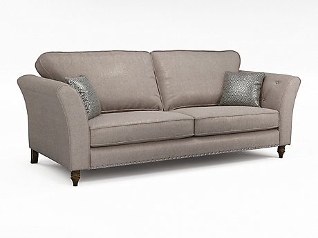 Elixer 4 Seater Standardback Sofa with Studs