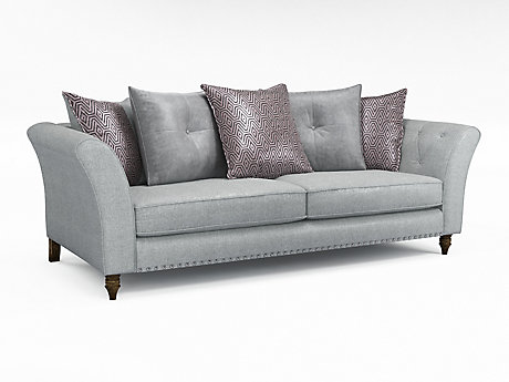 Elixer 4 Seater Pillowback Sofa with Studs