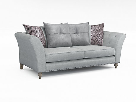 Elixer 3 Seater Pillowback Sofa