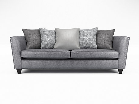 Blaire 4 Seater Pillowback Sofa with Studs