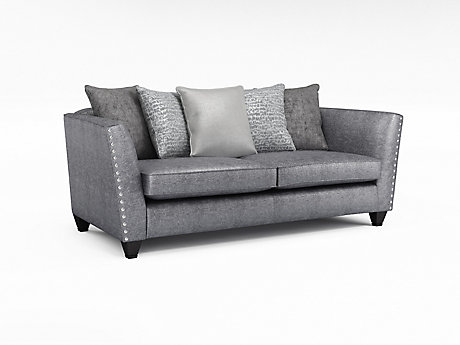Blaire 3 Seater Pillowback Sofa with Studs