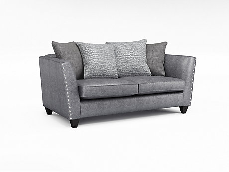 Blaire 2 Seater Pillowback Sofa with Studs