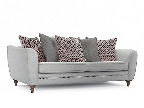 Ava 4 Seater Pillowback Sofa with Studs