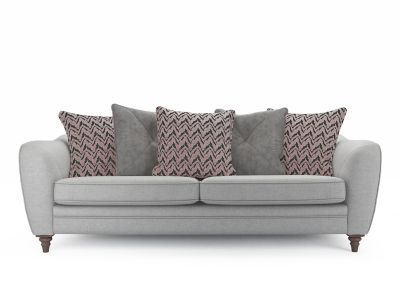Ava 4 Seater Pillowback Sofa without Studs