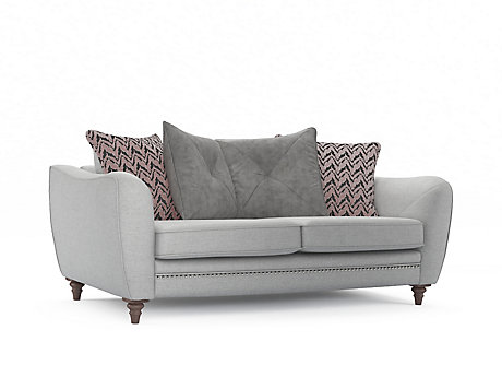 Ava 3 Seater Pillowback Sofa with Studs