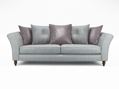 Elixer 4 Seater Pillowback Sofa without Studs