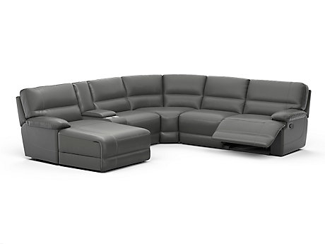Edmonton Large Left Hand Facing Recliner Corner Sofa with Chaise