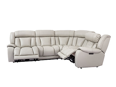 Elmhurst Left Hand Facing Electric Recliner Corner Sofa with Power Headrests
