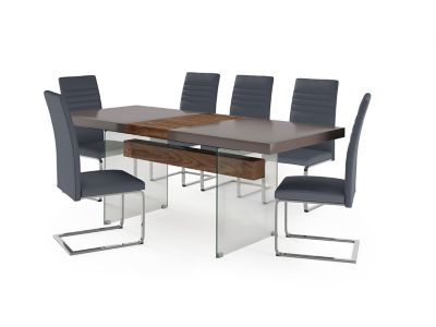Damara Extending Dining Table & 6 Alcora Chairs