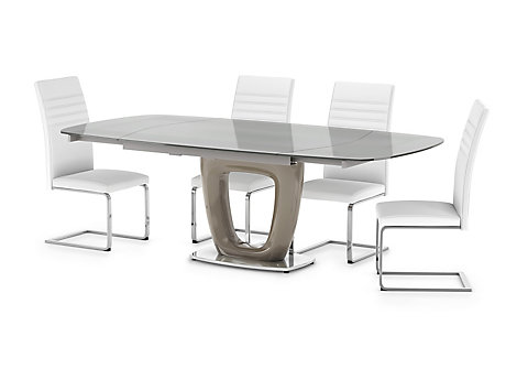 Ivanno Extending Dining Table & 4 Alcora Chairs