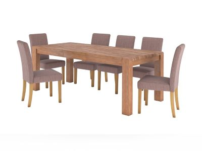 Roswell Extending Dining Table & 6 Taya Chairs