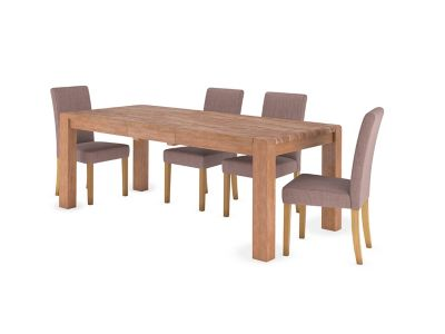 Roswell Extending Dining Table & 4 Taya Chairs