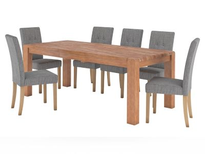 Roswell Extending Dining Table & 6 Lucy Chairs