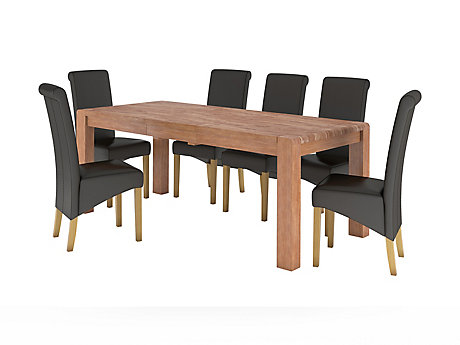 Roswell Extending Dining Table & 6 Darcy Chairs