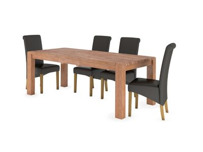 Roswell Extending Dining Table & 4 Darcy Chairs