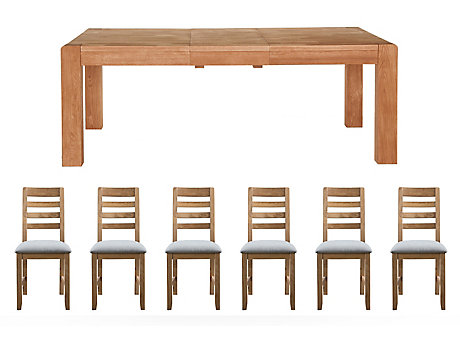 Roswell Extending Dining Table & 6 New Portsmore Chairs