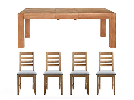 Roswell Extending Dining Table & 4 New Portsmore Chairs