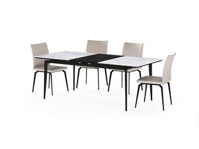 Deco Ceramic Extending Dining Table & 4 Chairs