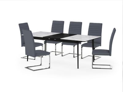Deco Ceramic Extending Dining Table & 6 Alcora Chairs