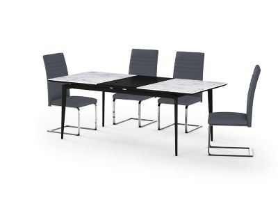 Deco Ceramic Extending Dining Table & 4 Alcora Chairs