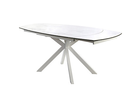 Russo Ceramic Swivel Extending Dining Table