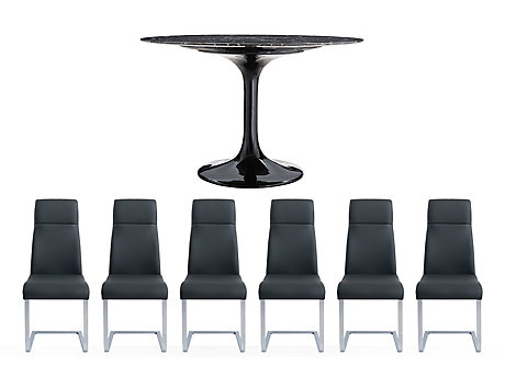 Torano Dining Table & 6 Capri Chairs