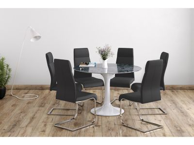 Torano Dining Table & 6 Novara Chairs