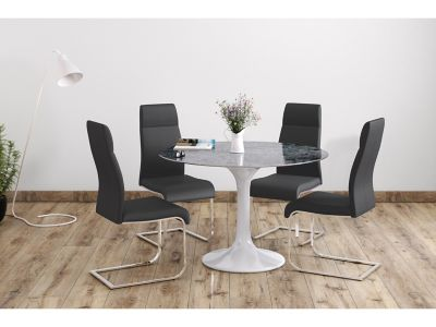 Torano Dining Table & 4 Novara Chairs