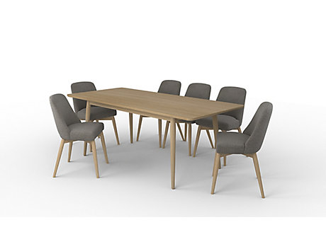 Sanova Extending Dining Table & 6 Chairs