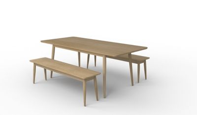 Sanova Extending Dining Table & 2 Benches