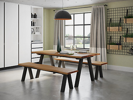 Dallas Dining Table 2 Benches