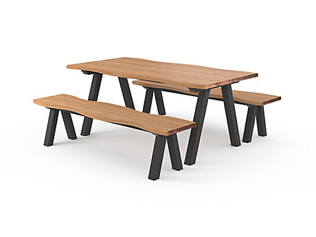 Dallas Dining Table & 2 Benches