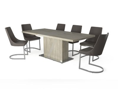 Alexa Extending Dining Table & 6 Ivanno Chairs
