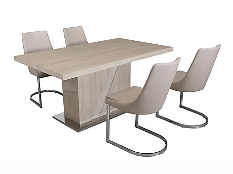 Alexa Extending Dining Table & 4 Ivanno Chairs