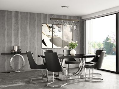 Belvedere Extending Dining Table & 6 Ivanno Chairs