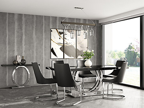 Belvedere Extending Dining Table 6 Ivanno Chairs